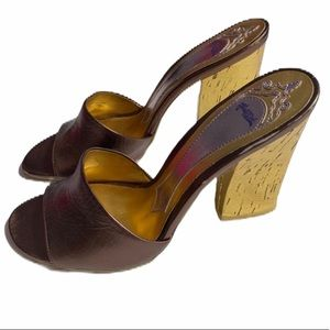 Hale Bob Jacinda Brown Sandals